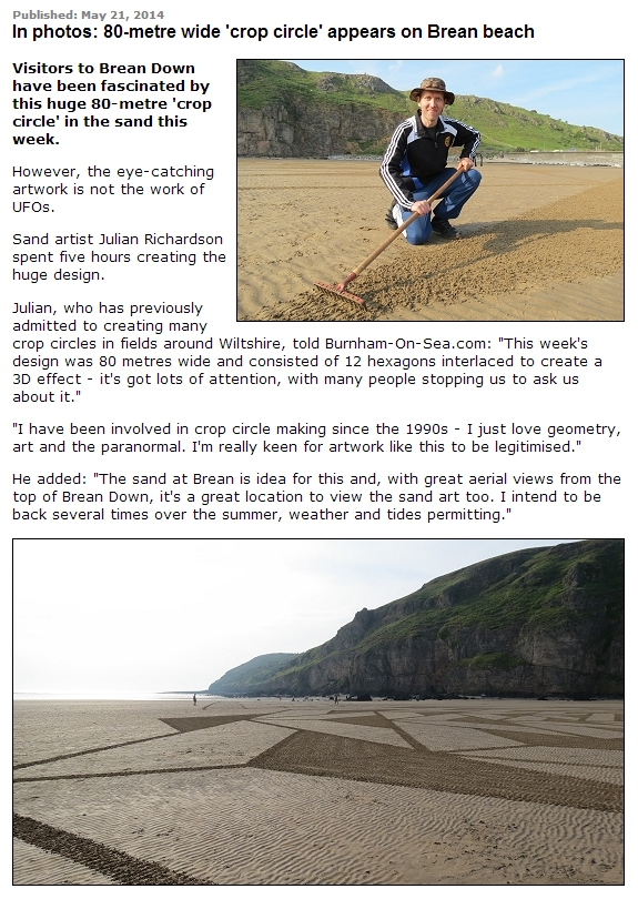 In photos 80 metre wide crop circle appears on Brean beach (2)