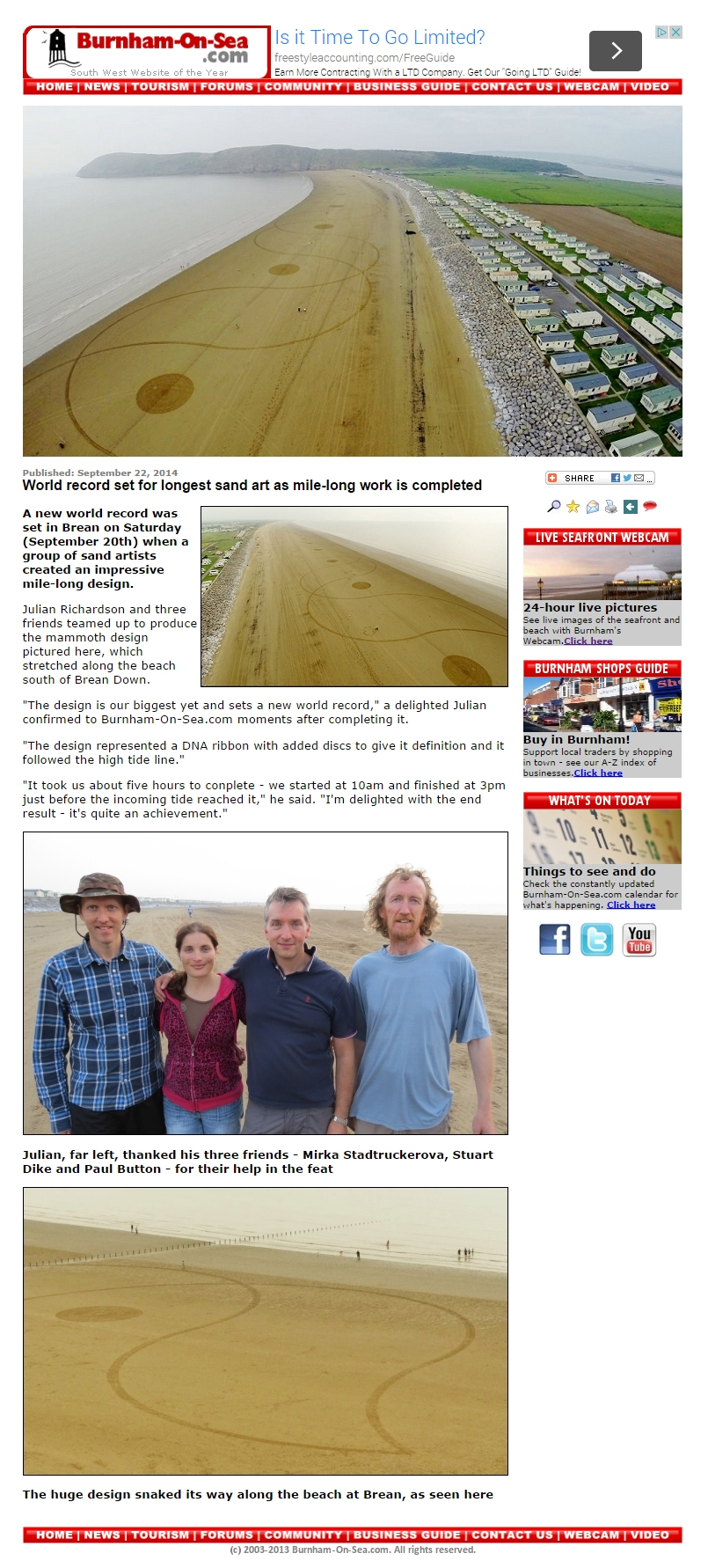 World record set for longest sand art as mile long work is completed copy